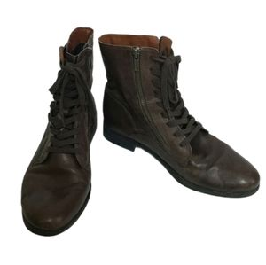 Lucky Brand brown Nolina combat boots